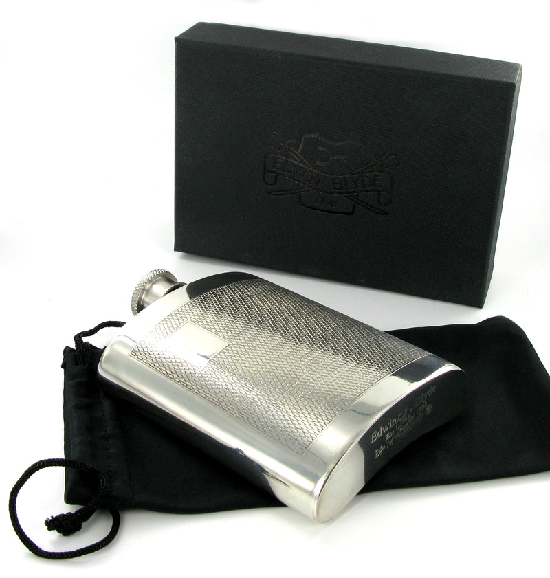 Pewter Classic Initials 6oz Flask
