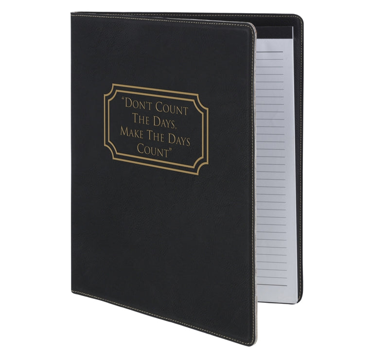 Swatkins Leatherette Black A5 Note Pad & Document Holder