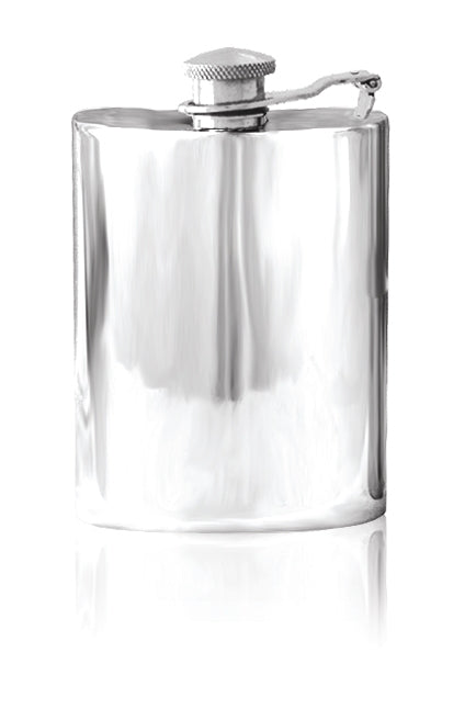 Pewter Hip Flask 4oz with Captive Lid