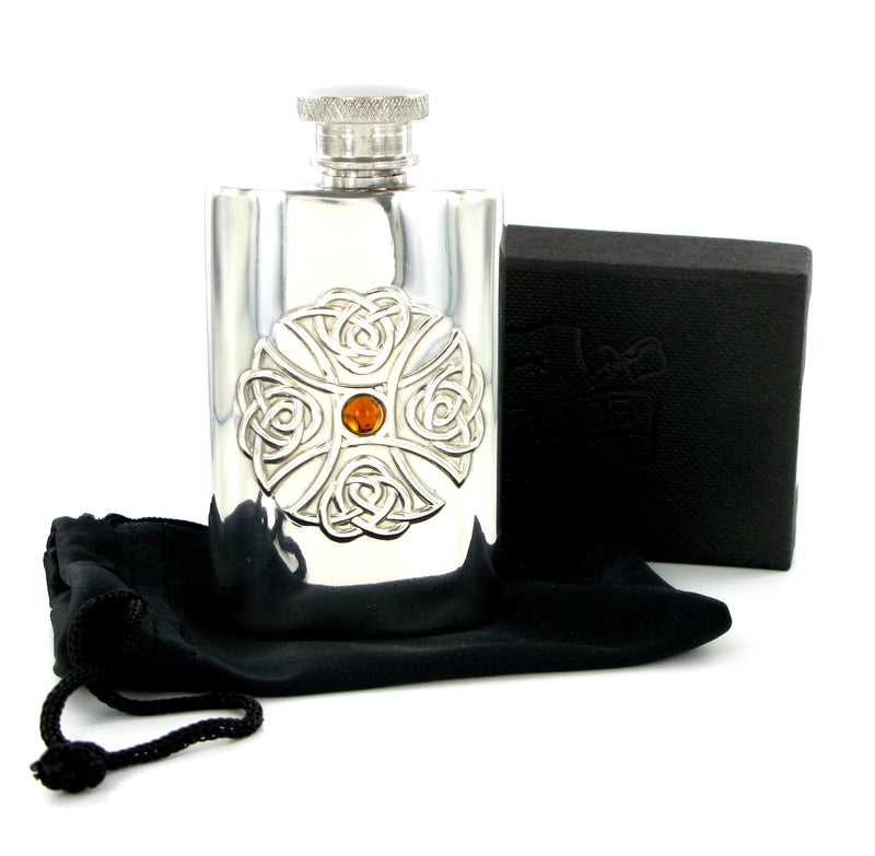Ladies Pewter Hip Flask 2oz