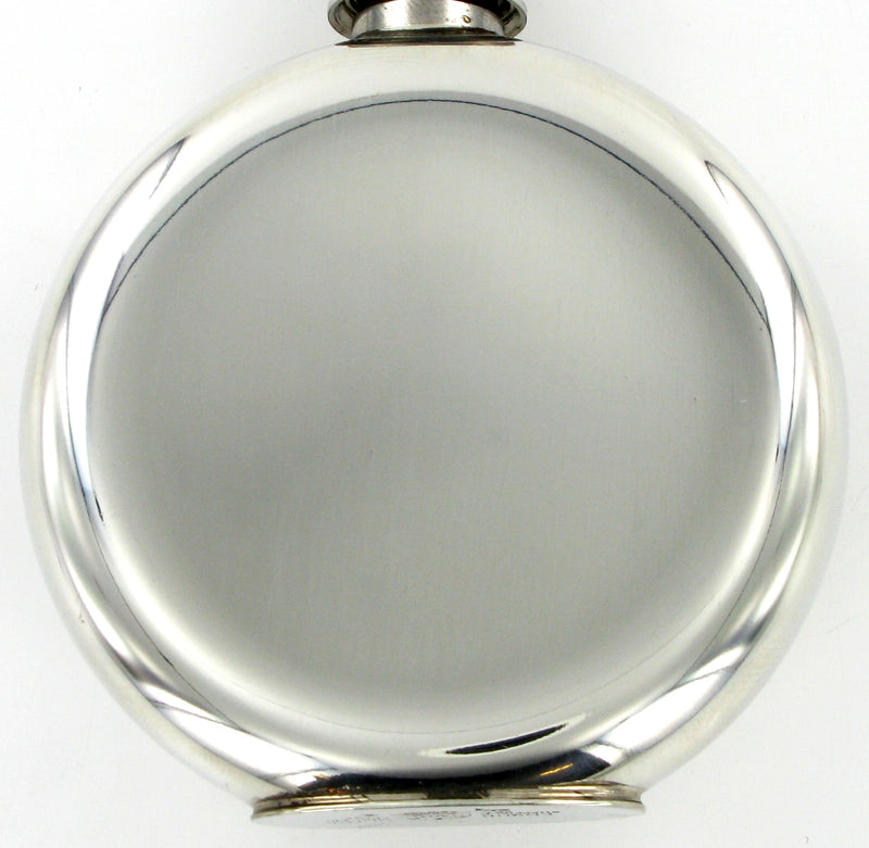 Pewter Hip Flask 4oz Round with Pattern Ring