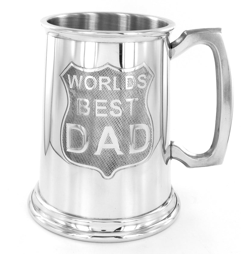 Pewter 1 Pint Tankard Worlds Best Dad