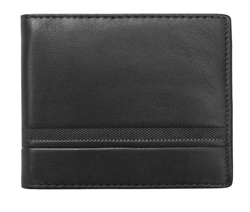 Primehide Urban Black RFID Mens Leather Wallet 3300