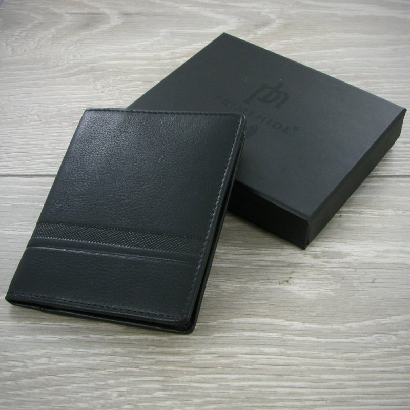 Primehide Urban Black RFID Mens Leather Credit Card Holder 3301