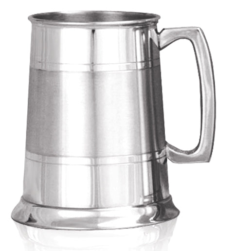 Pewter 1 Pint Satin Band Tankard