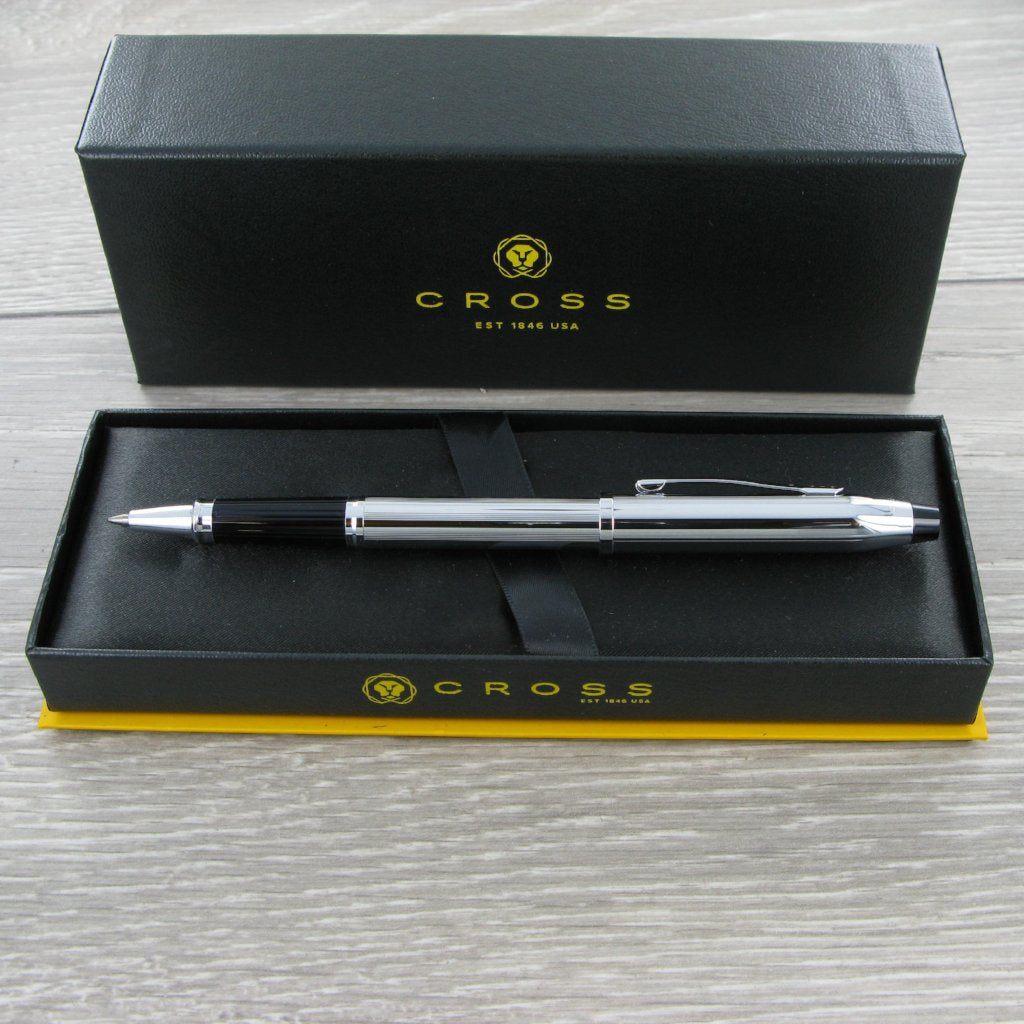 Cross Century II Lustrous Chrome e Rollerball Pen 3504
