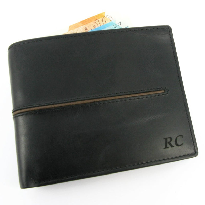 Primehide Woodsman Black RFID Mens Leather Wallet 3901