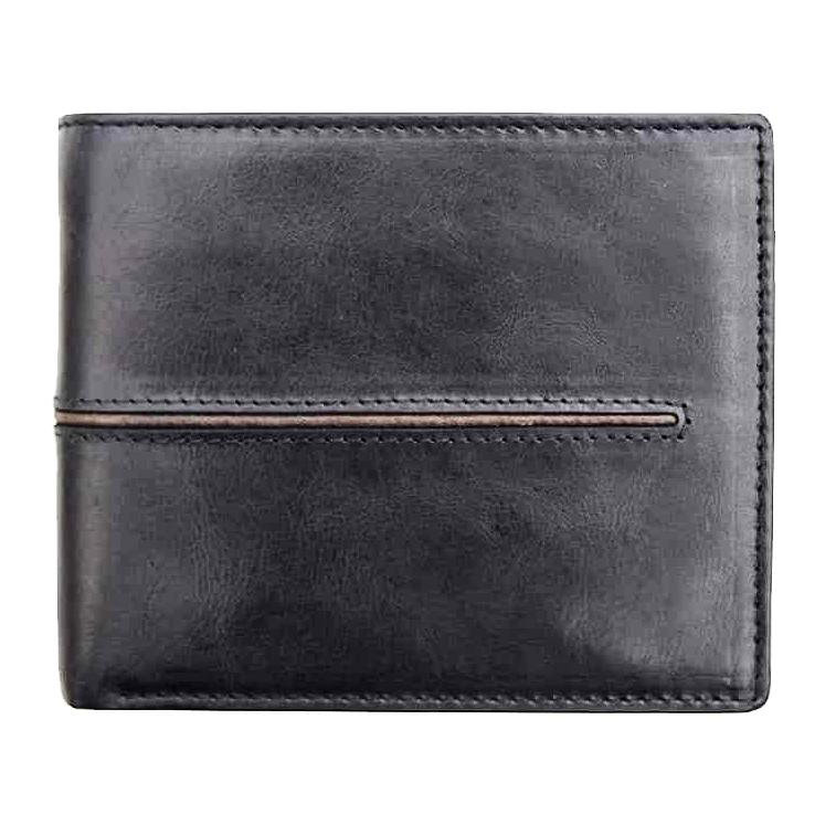 Primehide Woodsman Black RFID Mens Leather Wallet 3903