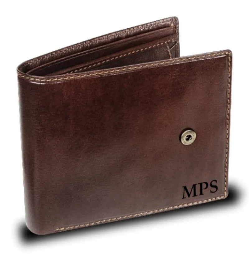 Visconti Monza MZ5 Rome Italian Brown Leather Wallet RFID