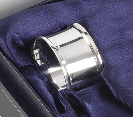 Napkin Ring Wide 925 Solid Silver 4079