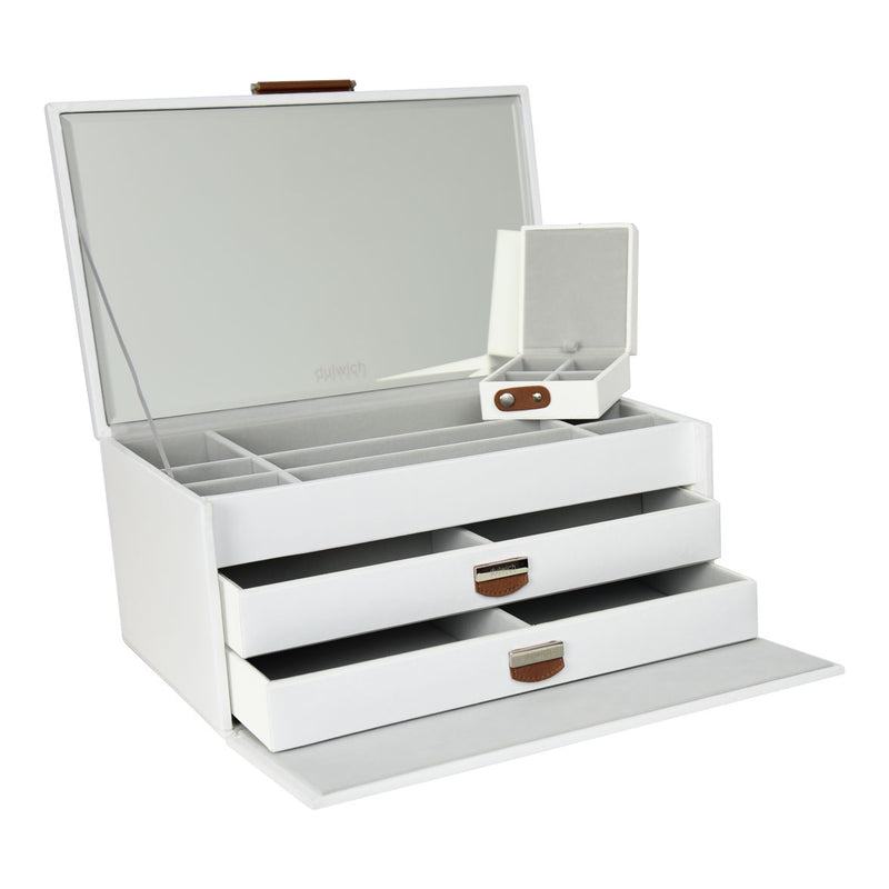 Dulwich Designs Notting Hill White Large Jewellery Box 71108