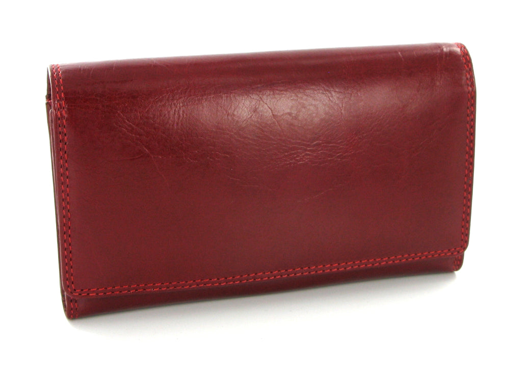 Visconti Monza MZ12 Maria Italian Red Leather Purse