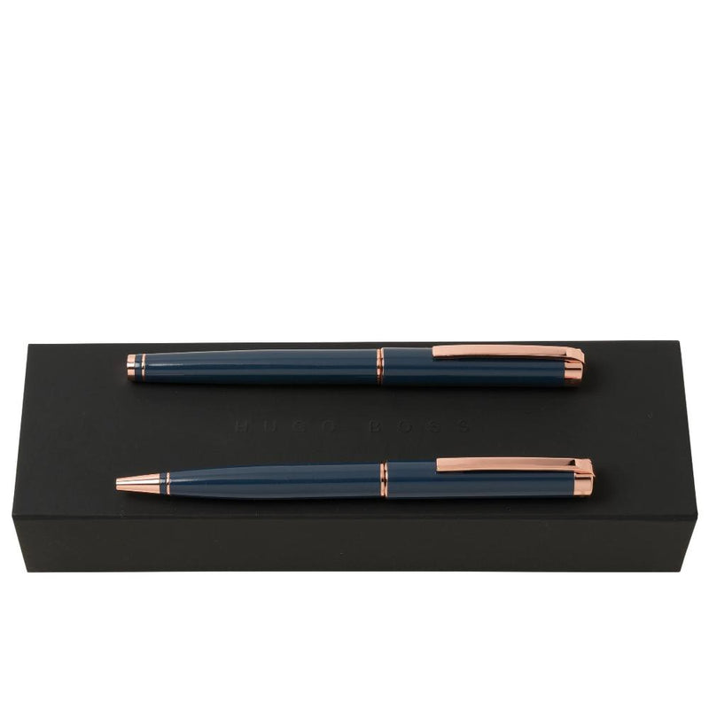 Hugo Boss Ace Blue Rollerball & Ballpoint Set HPBR954N