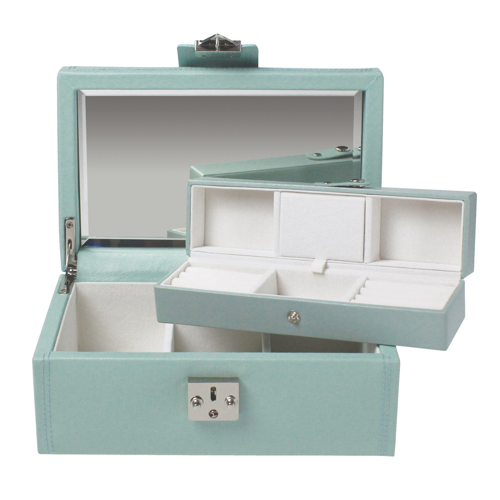 Dulwich Designs Mayfair Medium Jewellery Box 71048 Duck Egg