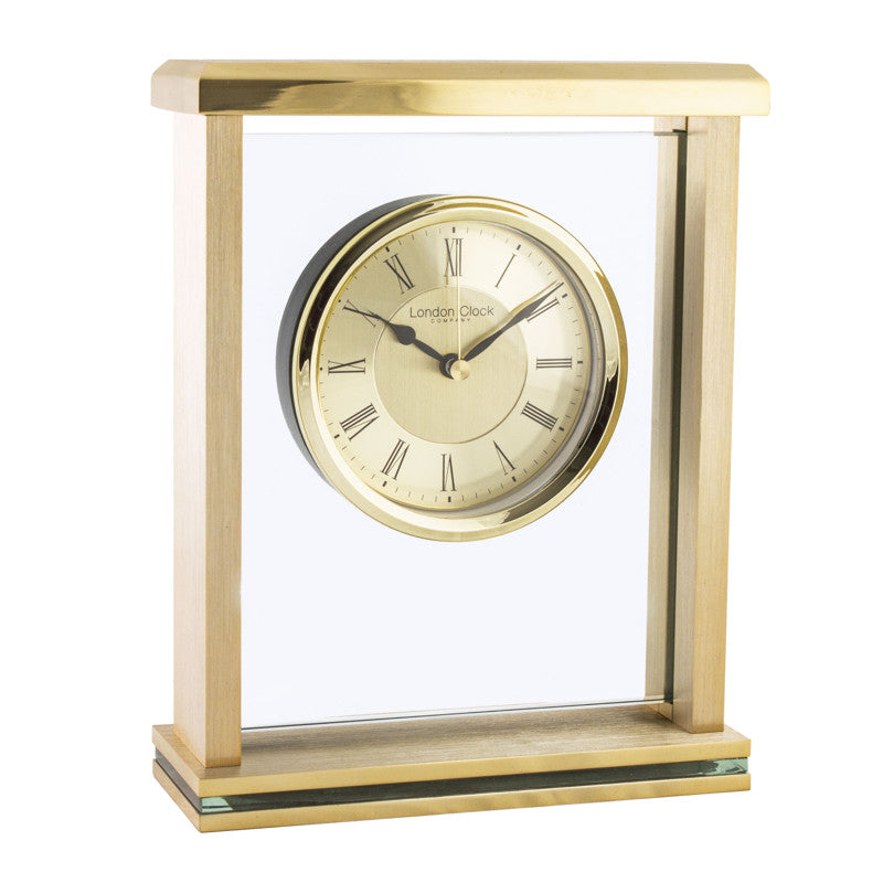 London Clock Gold Rectangular Mantel Clock 03123