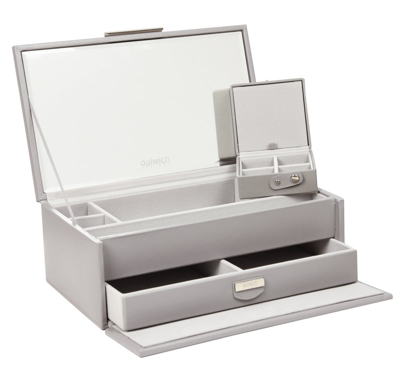 Dulwich Designs Notting Hill Grey Medium Jewellery Box 71175