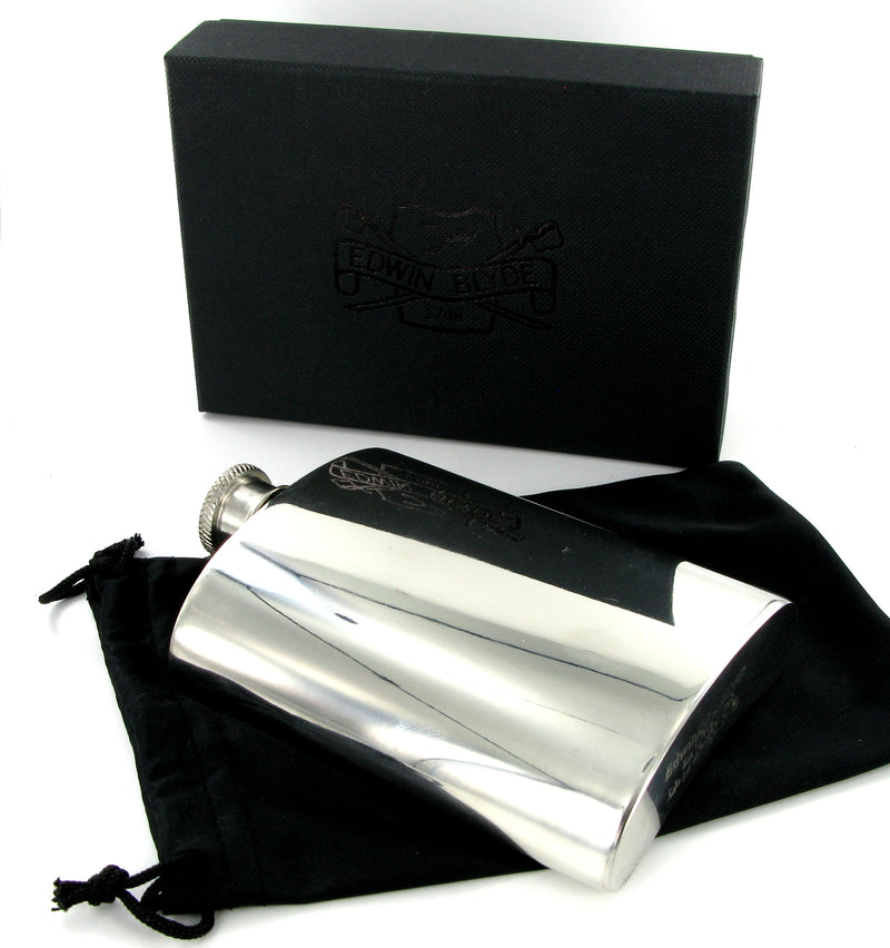 Pewter Hip Flask 6oz Plain
