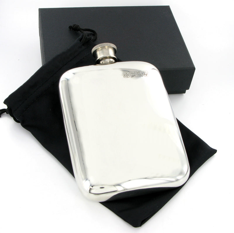 Pewter Hip Flask 6oz Cushion