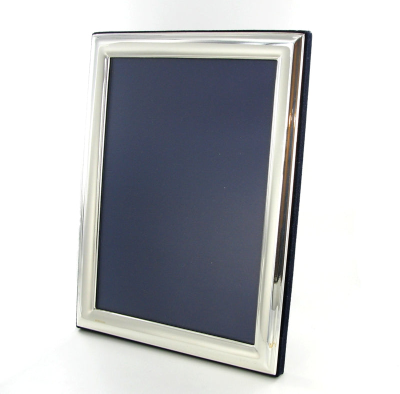 "Solid Silver Photo Frame Plain Edge 9""x7"" Portrait 6570EX3"
