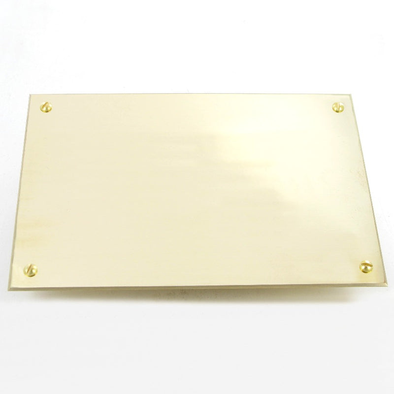 "Polished Brass Plate 7"" x 5"""