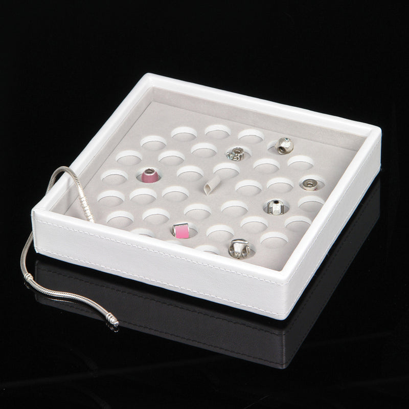 Stackers White Leather Full Charm Stacker Set