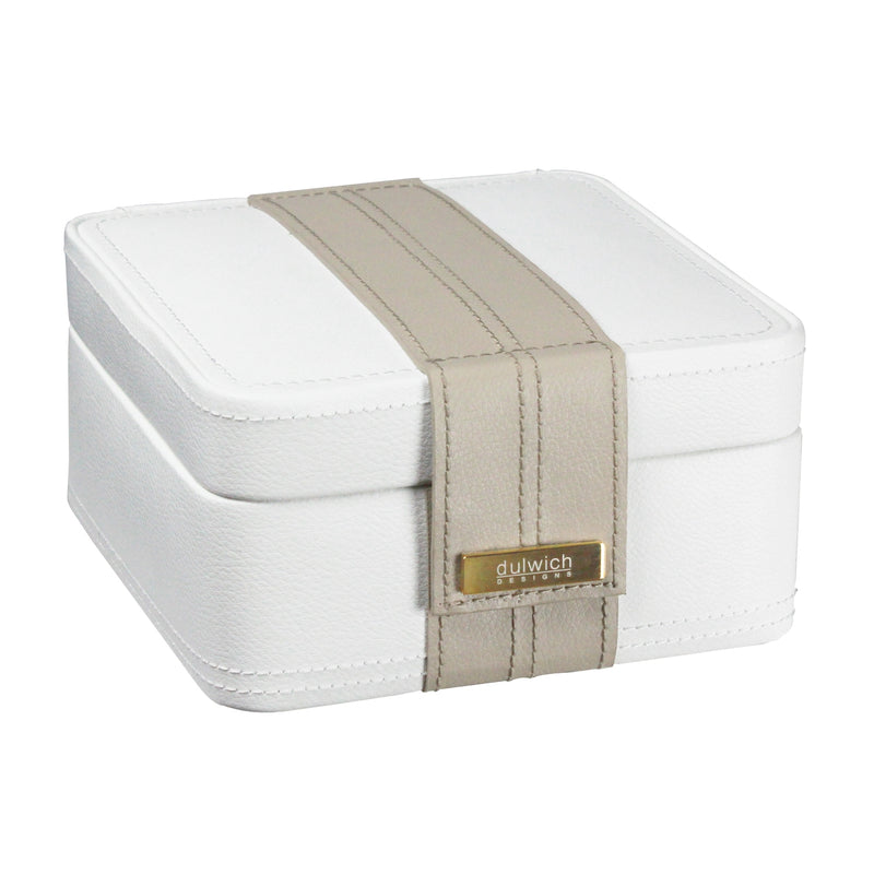 Dulwich Designs Belgravia Earring Box 71035 Cream Leather