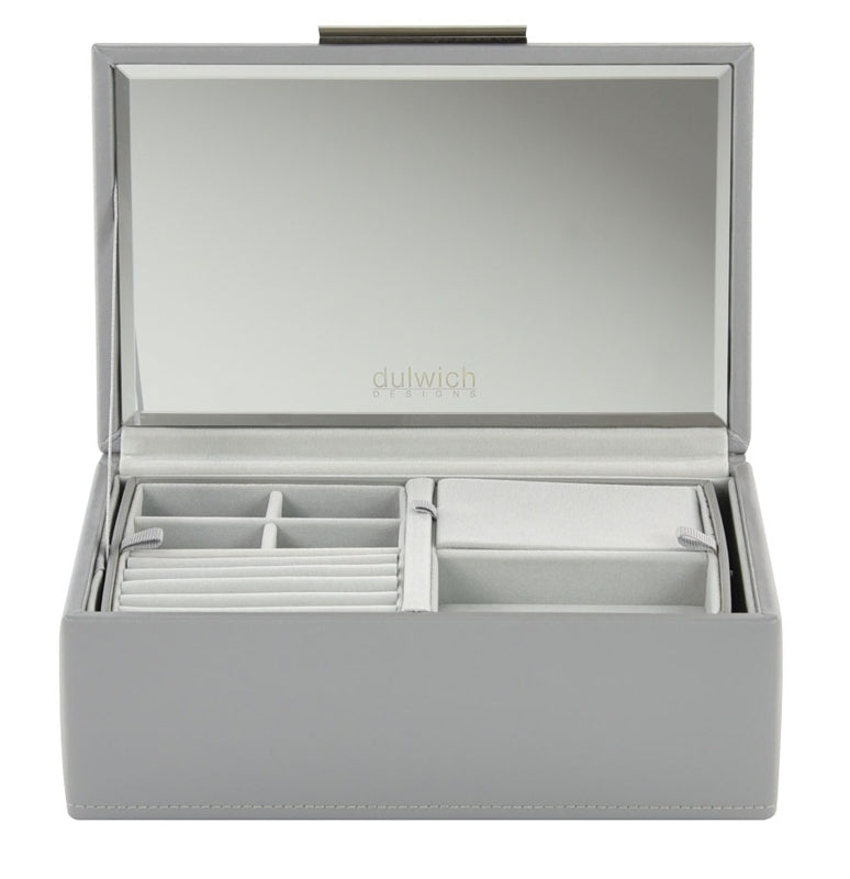 Dulwich Designs Notting Hill Grey Small Jewellery Box 71174