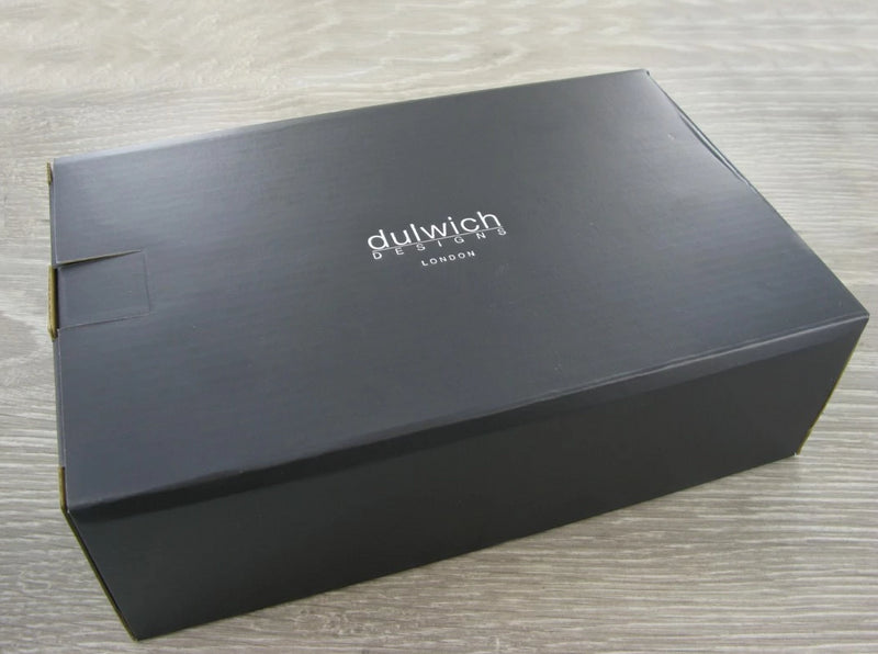 Dulwich Designs Windsor Black Leather Cufflink Box 71217