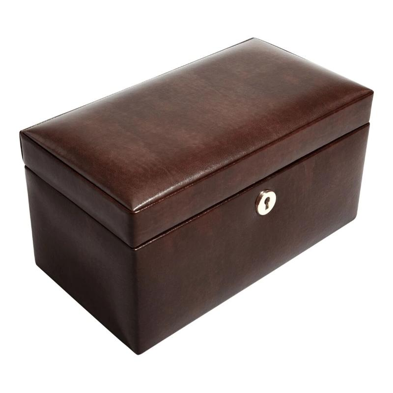 Dulwich Designs Windsor Brown Leather 3 Piece Watch Box 71212