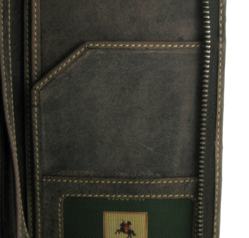 Visconti Hunter Leather Travel Wallet 728 Oil Brown