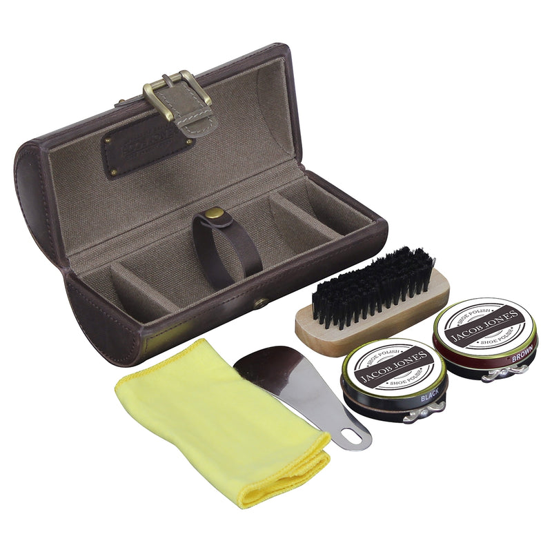Jacob Jones Shoe Shine Kit -73499- Khaki