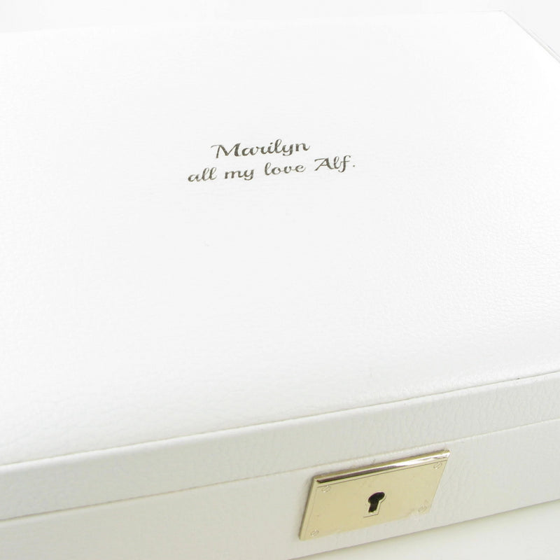 Stackers Orchid White Leather Jewellery Box Lidded 75441