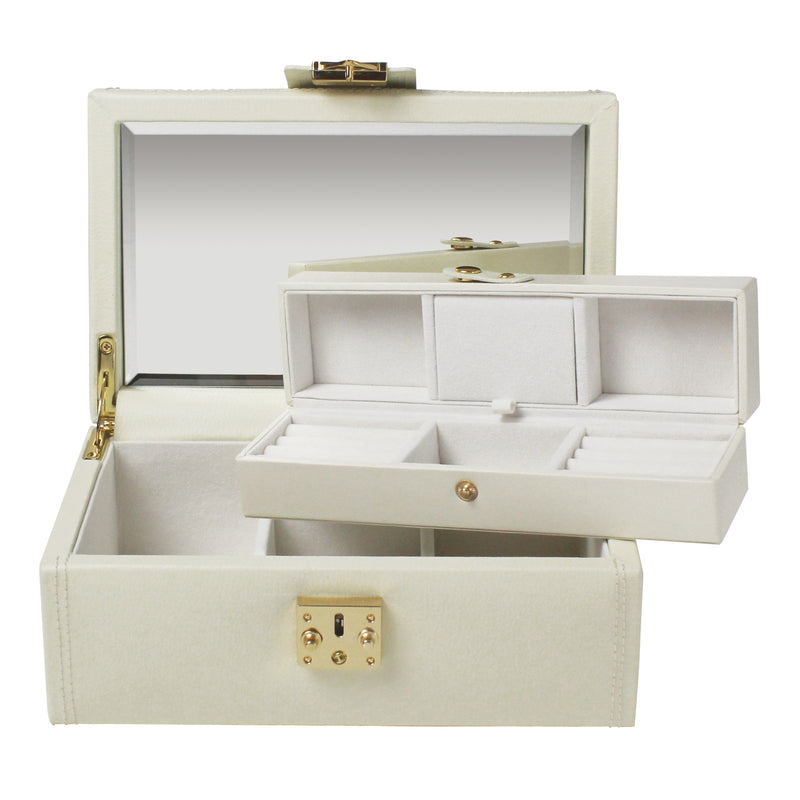 Dulwich Designs Mayfair Medium Jewellery Box 71045 Cream