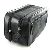 Visconti Monza Men's Black Leather Travel Bag MZ100