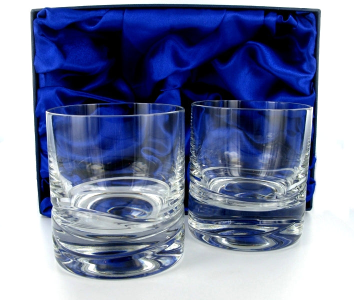 Verona Whiskey Tumbler Pair with Presentation Box & Free Engraving