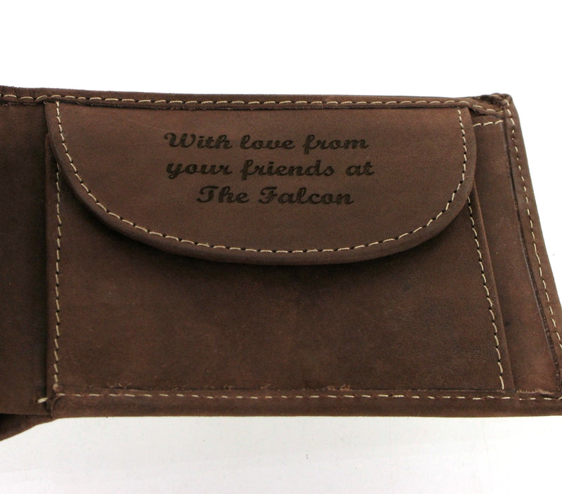 Personalised Leather Wallet In Soft Brown Distressed Leather 864