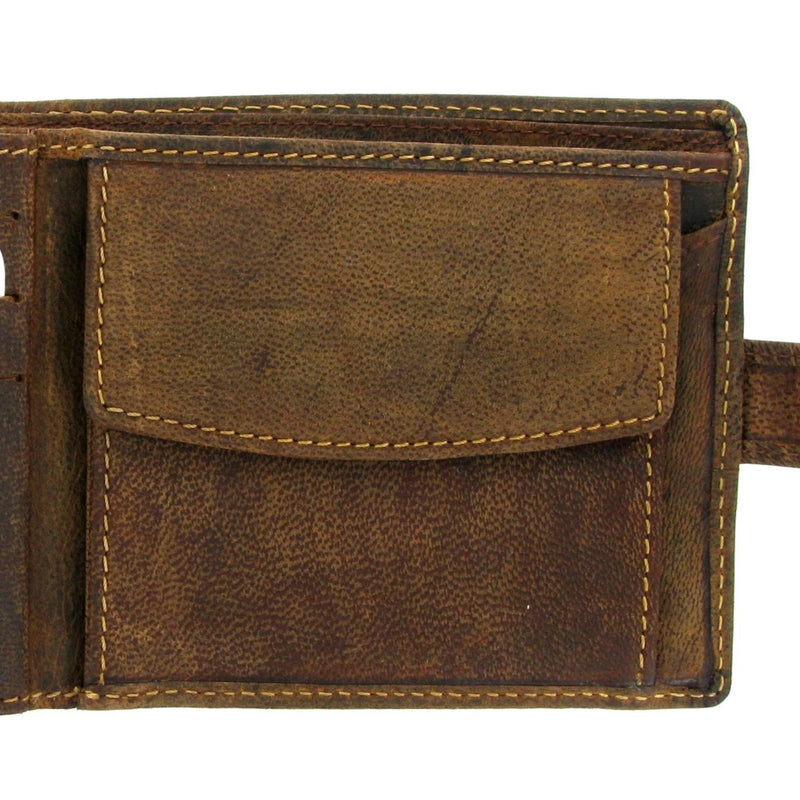Personalised Leather Wallet 867 Soft Brown Distressed Leather Wallet