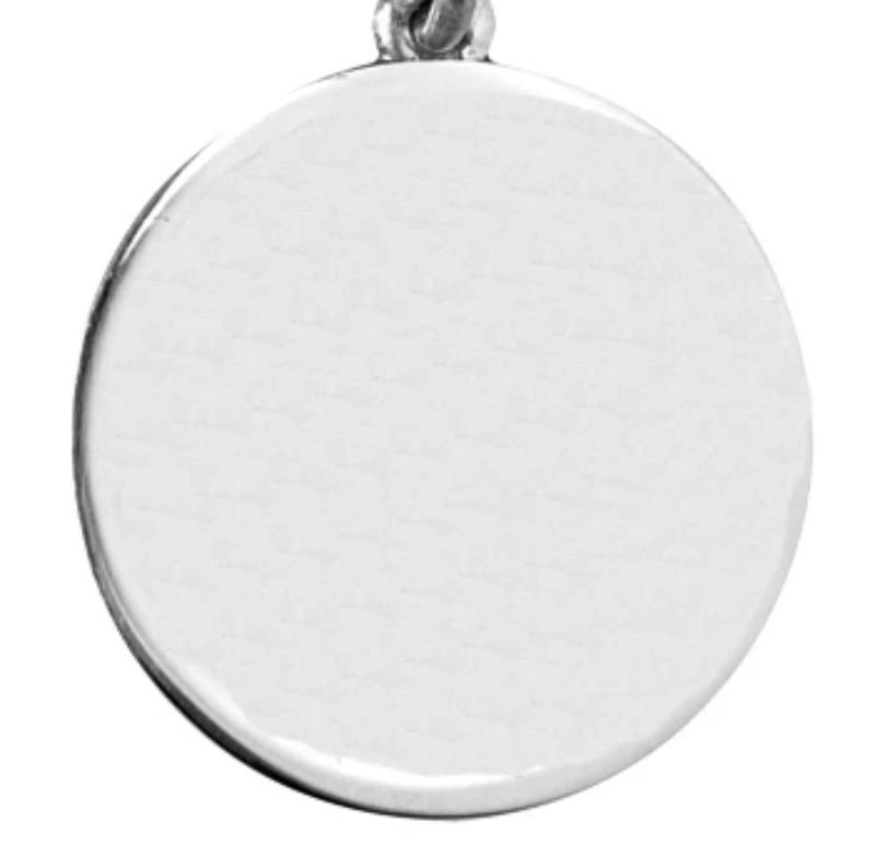 Saint Christopher Silver Plated Keyring 27mm Round EP9444