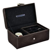 Jacob Jones Cambridge Watch & Cufflink Box -73800- Grey