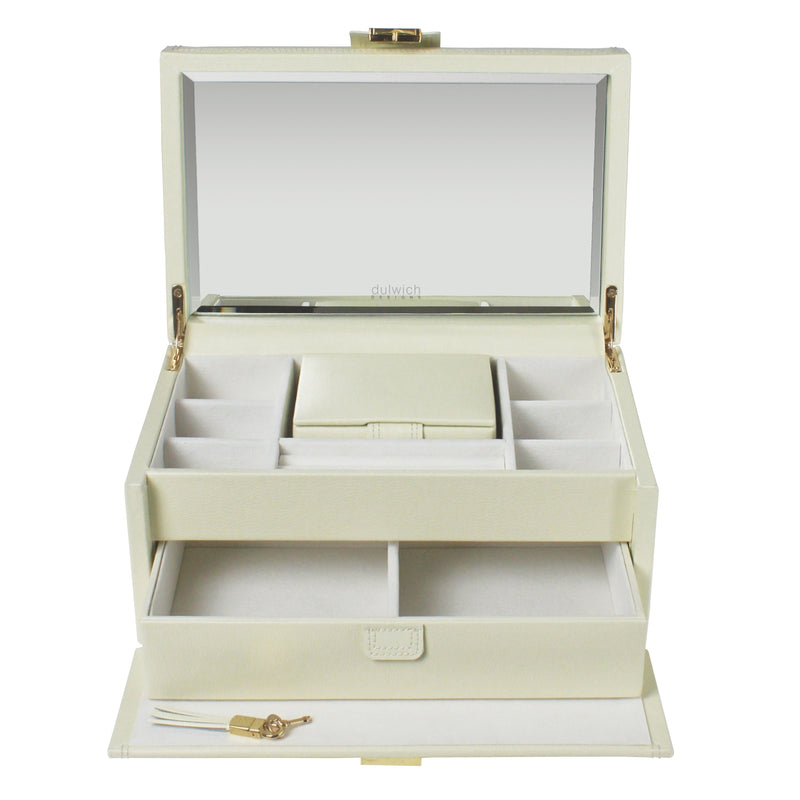 Dulwich Designs Mayfair Large Jewellery Box 71041 Cream