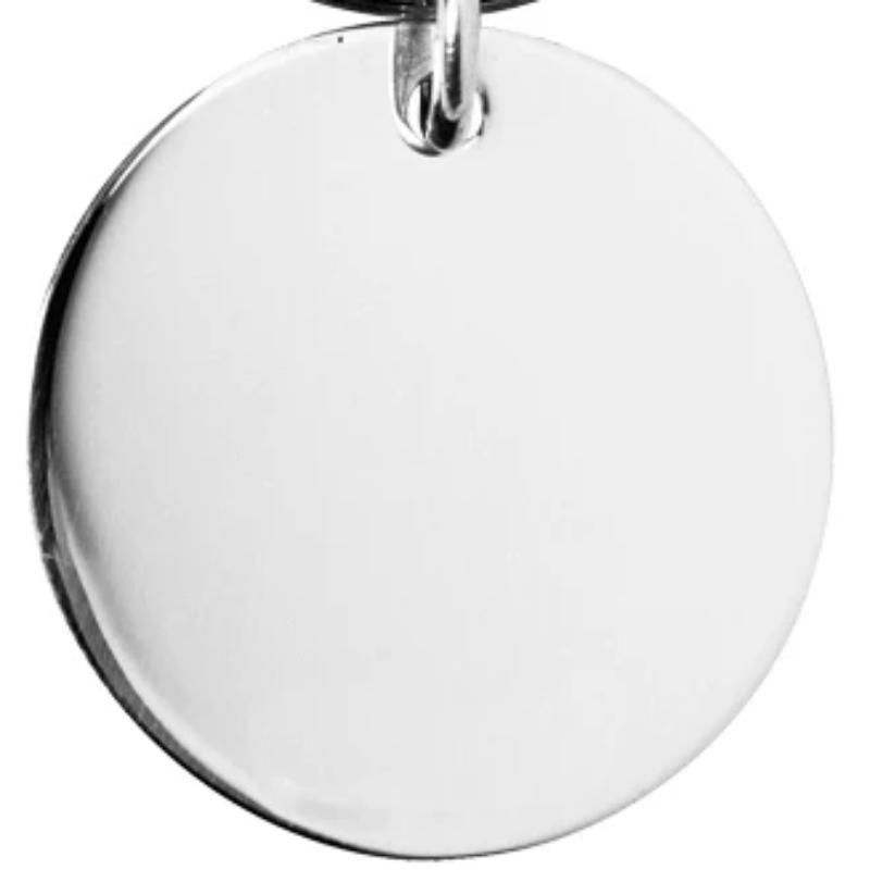 Round Keyring Silver Plated 28mm diameter EP9209