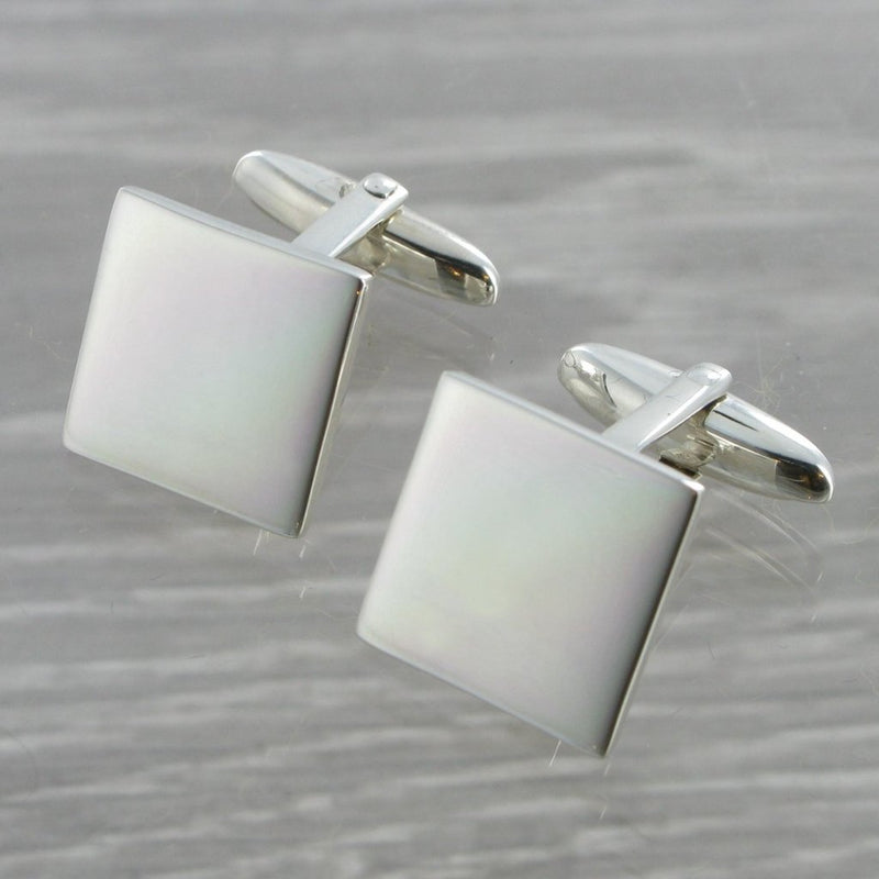Square Swivel Solid Silver Cufflinks 9353