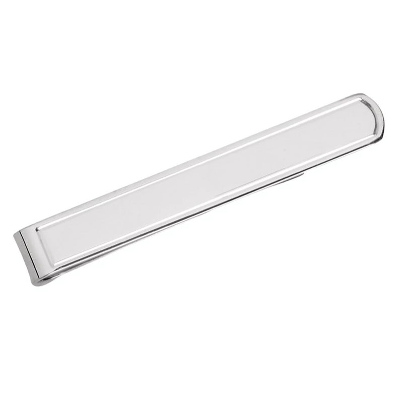 Tie Slide Plain Solid Silver with Presentation Box