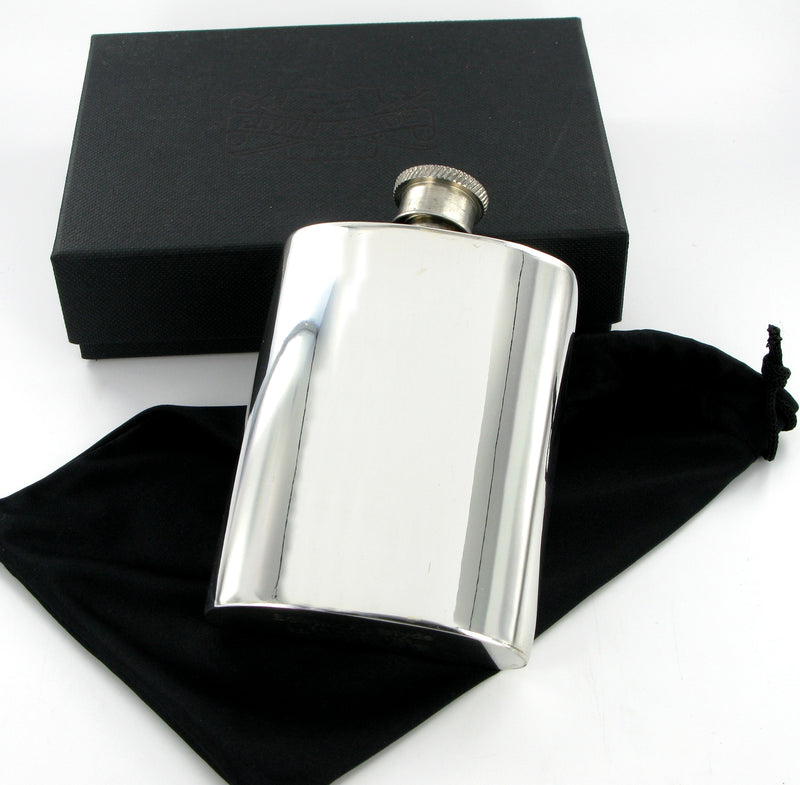 Pewter Hip Flask 4oz Plain