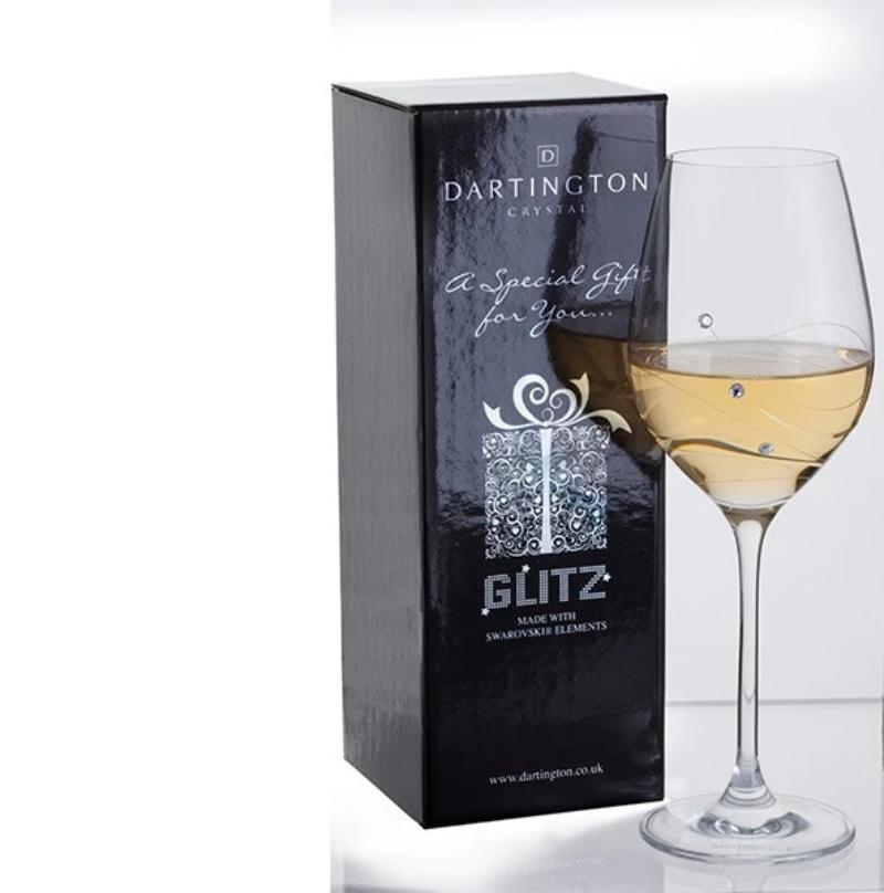 Dartington Crystal Glitz Single Wine Glass