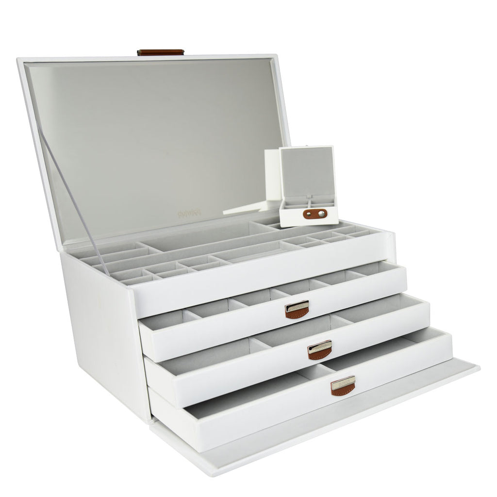 Dulwich Designs Notting Hill White Extra-Large Jewellery Box 71109