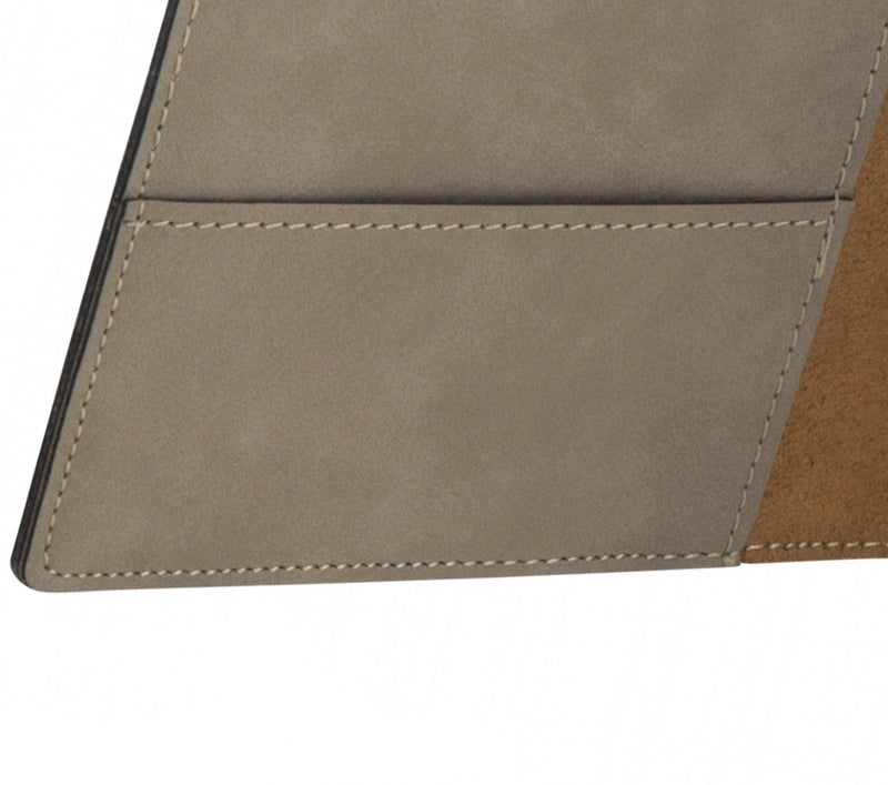 Swatkins Leatherette Light Brown A5 Note Pad & Document Holder