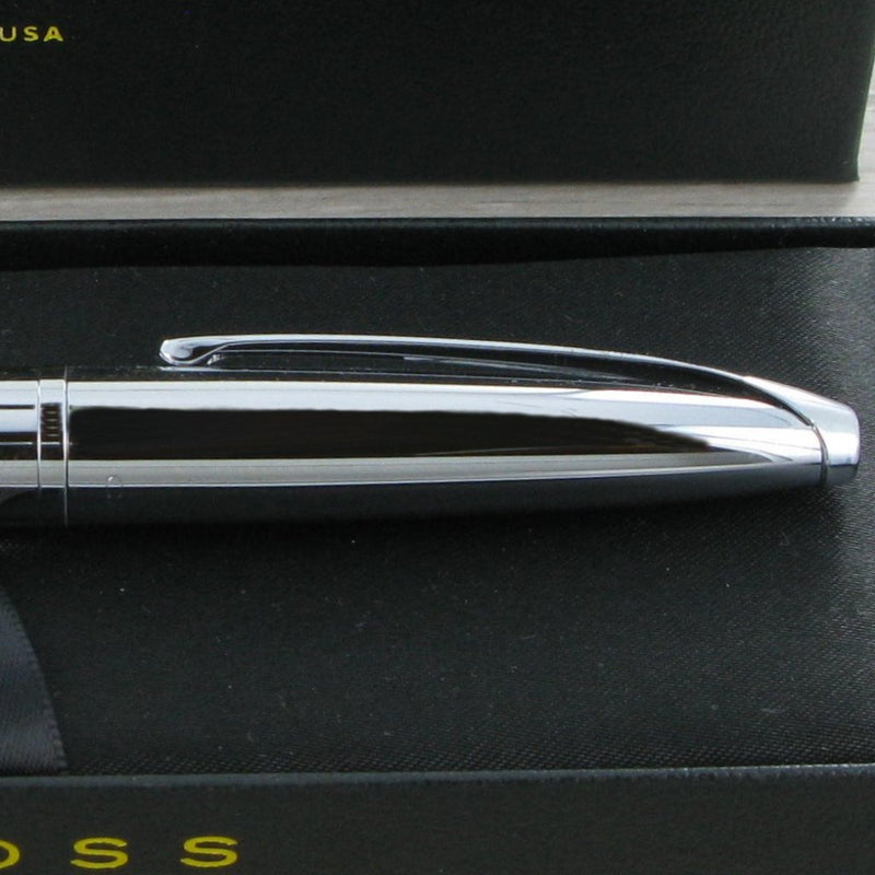 Personalised Cross ATX Pure Chrome Pen Set 885 & 882