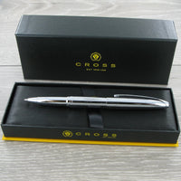 Personalised Cross ATX Pure Chrome Rollerball Pen 885-2