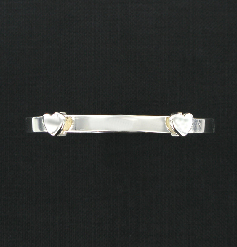 Hearts Expanding Bangle with Presentation Box